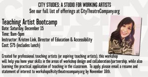 Teaching Artist Bootcamp