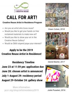 2019 Creative Reuse Artist in Residence Program