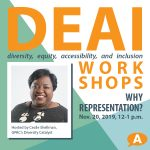 DEAI Lunch & Learn Workshop: Why Representation?