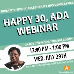 DEAI Lunch & Learn: Happy 30, ADA—Webinar