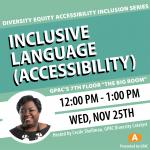 DEAI Lunch & Learn: Inclusive Language (Accessibility)