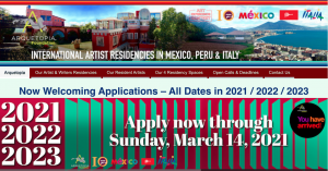 All Residencies for Artists, Designers, Writers, Curators & Art Historians (Programs With or Without Master Instruction) – All Dates in 2021 / 2022 / 2023
